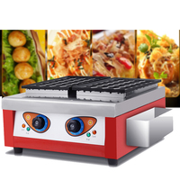 2018 Commercial use street food Electric 2 plates Octopusball machine takoyaki machine for sale