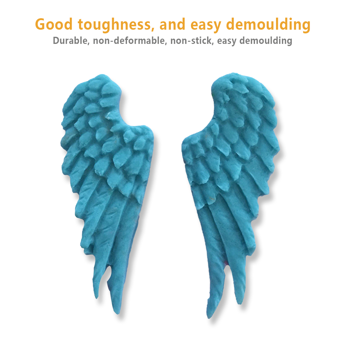 Kitchen DIY Tool 1PC Angel Wings Shape Silicone Chocolate Mold Cake ...