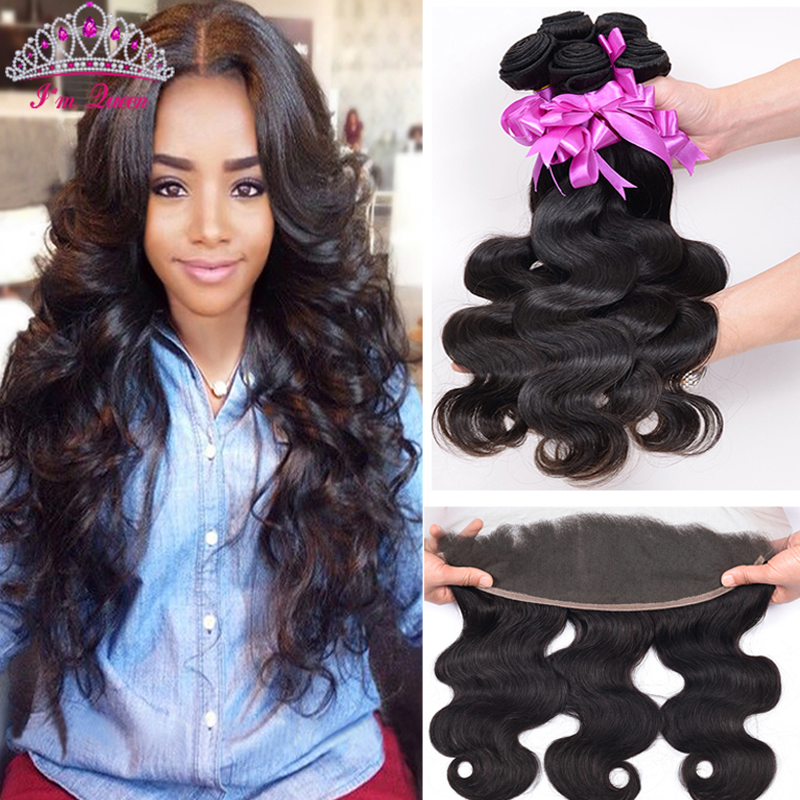 13x4 Lace Frontal Closure With Bundles 8A Brazilian Virgin Hair Body Wave With Closure 3 Bundles With Frontal Closure Human Hair