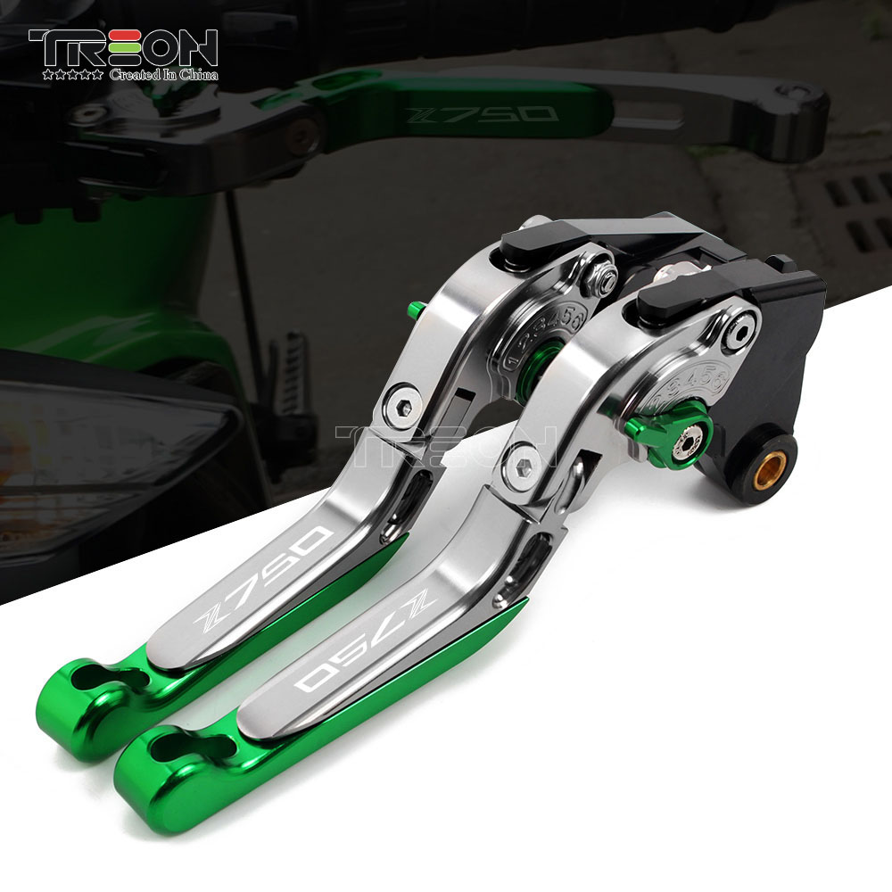 Acessórios da motocicleta de Alumínio CNC Brake Clutch Lever Handle Quadro Z750 Z-750 Ornamentais Para Kawasaki 2007-2012