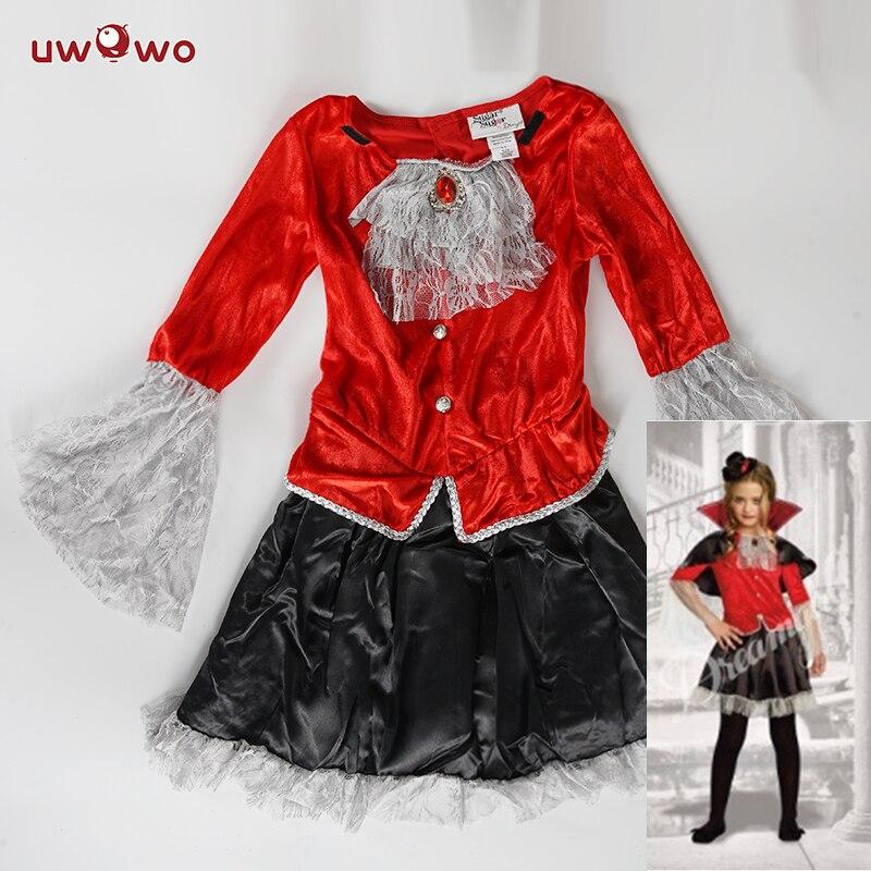 UWOWO Vampire Costume Cosplay Girl Halloween Party Dress Movie Amine Honor Movie Vampire Costumes for Kids
