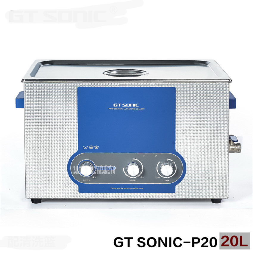 GT SONIC P20 Ultrasonic Cleaner Heating Timer Adjustable Power Steel Stainless Steel 110V/220V Watch Bathroom Jewelry Glasses