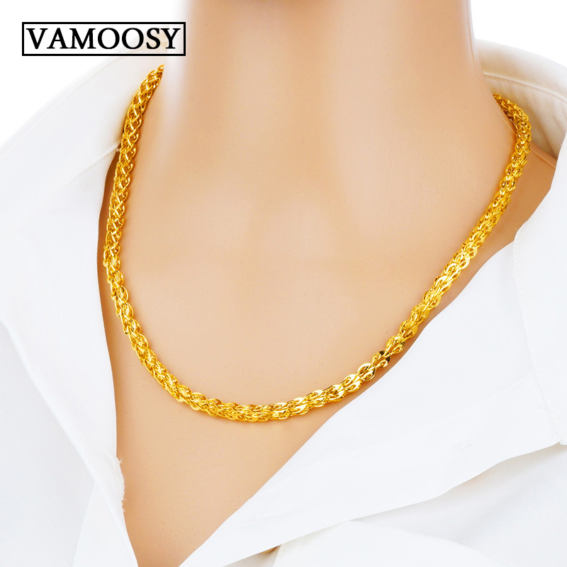 Fine chaîne claviculaire colliers 2018 nouveau Style bohême 24 K or ras du cou colliers pour femmes Boho mariage mariée choker bijoux