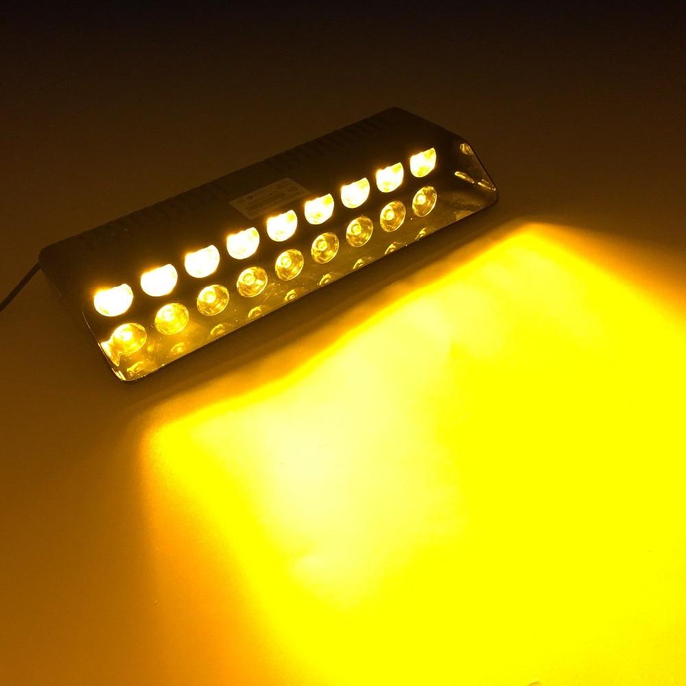 Amber 12 LED Emergency Hazard Flash Warning Beacon Strobe Light Bar C96 Yellow
