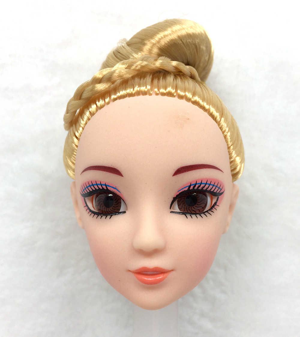 NK قطعة واحدة رأس دمية الموضة مع عيون الشعر الملونة ثلاثية الأبعاد لتقوم بها بنفسك اكسسوارات باربي Kurhn دمية أفضل فتاة 'هدية الطفل' لتقوم بها بنفسك اللعب