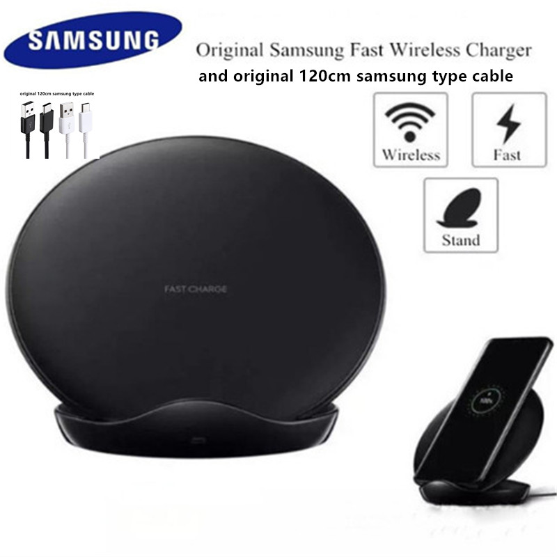 original samsung galaxy s8 s9 s10 plus note 8 9 10 wireless fast charger adaptor stand pad for iphone 8 plus x xs max mi 9 9s-in Mobile Phone Chargers from Cellphones & Telecommunications