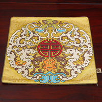 Dragon Luxury Square Dinner Chinese Silk Placemats for Dining Table Plate Mat Placemat Christmas Decorative Protective Pad 33x33
