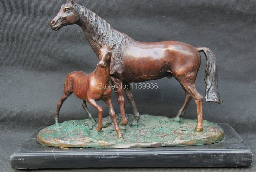 17 Quot Chinese Fengshui Bronze Zodiac Year Horse Mother Son