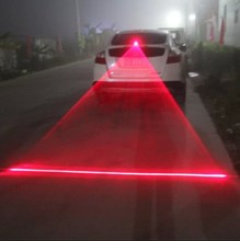 Rear rear-end laser fog lamp car LED refitted projection lamp rear light anti-collision warning lamp decorative lamp стоимость