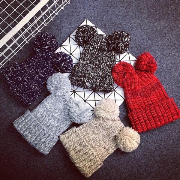 Новые приходят женщины новые прибытия зимняя шапка женщины два пом англичане шапочки прекрасный 5 цвет