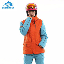 Marsnow Women Ski Jacket Winter Men's Snowboard Jackets Waterproof Breathable Thick Warm High Quality Outdoor Skiing Wear