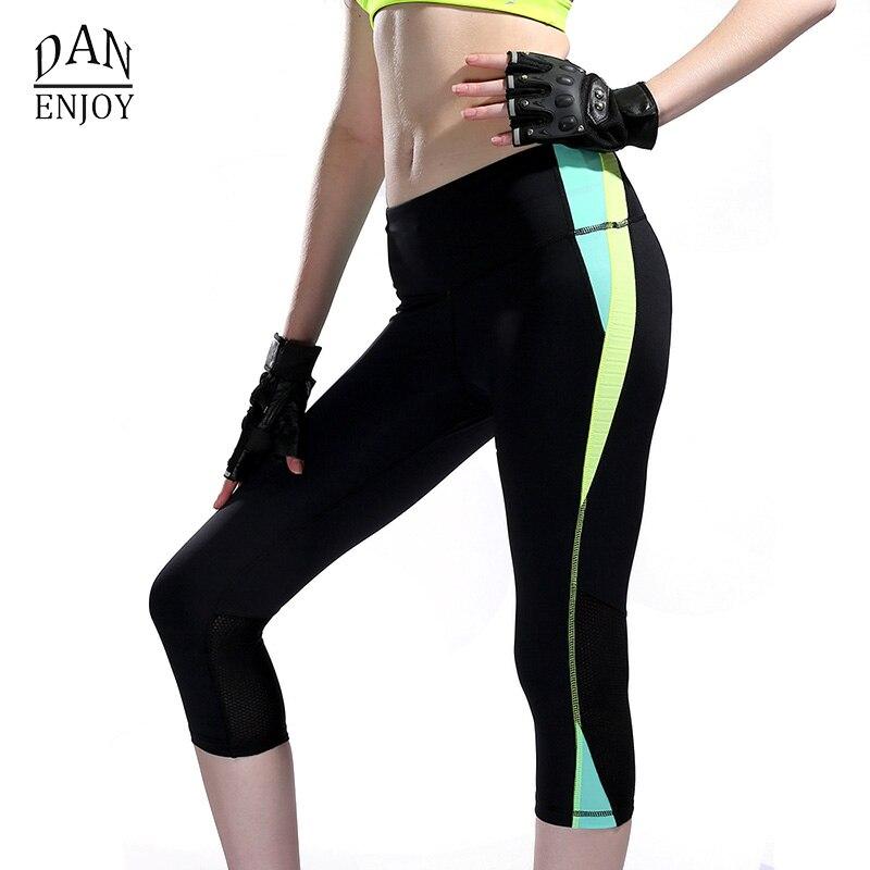 DANENJOY Pantalones de yoga Fitness Leggings deportivos Medias - Ropa deportiva y accesorios