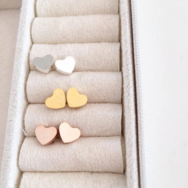 Minimalism Cute Rose Gold Heart Stud Earrings for Women Children Sister Bridesmaid Gift Stainless Steel Earings.jpg 640x640 - Minimalism Cute Rose Gold Heart Stud Earrings for Women Children Sister Bridesmaid Gift Stainless Steel Earings Fashion Jewelry