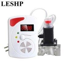 LESHP LED Digital Display Voice Gas alarm system LPG Household Leakage Detector Sensor 1pcs Home Kitchen Security Alarm Sensor