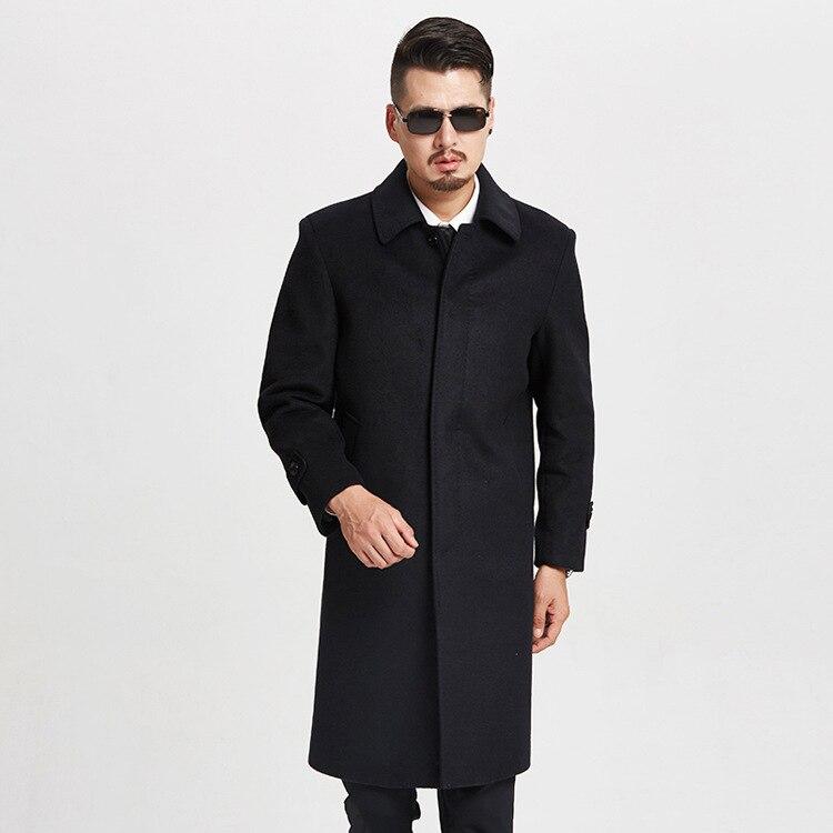 Black De Hommes Épaississement Automne X Taille Arrivée Nouvelle Qualité Laine longue Unique Épaisse Manteau Plus Mlxlxxl3xl4xl Mode Hiver Poitrine Haute Yb7gyf6
