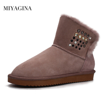 2018 Australia Wholesale Retail Top Quality Women S Fashion Snow Boots Genuine Sheepskin Leather Ankle Boots