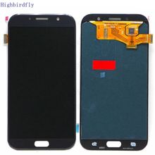 Para samsung galaxy a7 2017 a720 a720f/ds a720f display lcd com tela de toque vidro digitador assembléia amoled