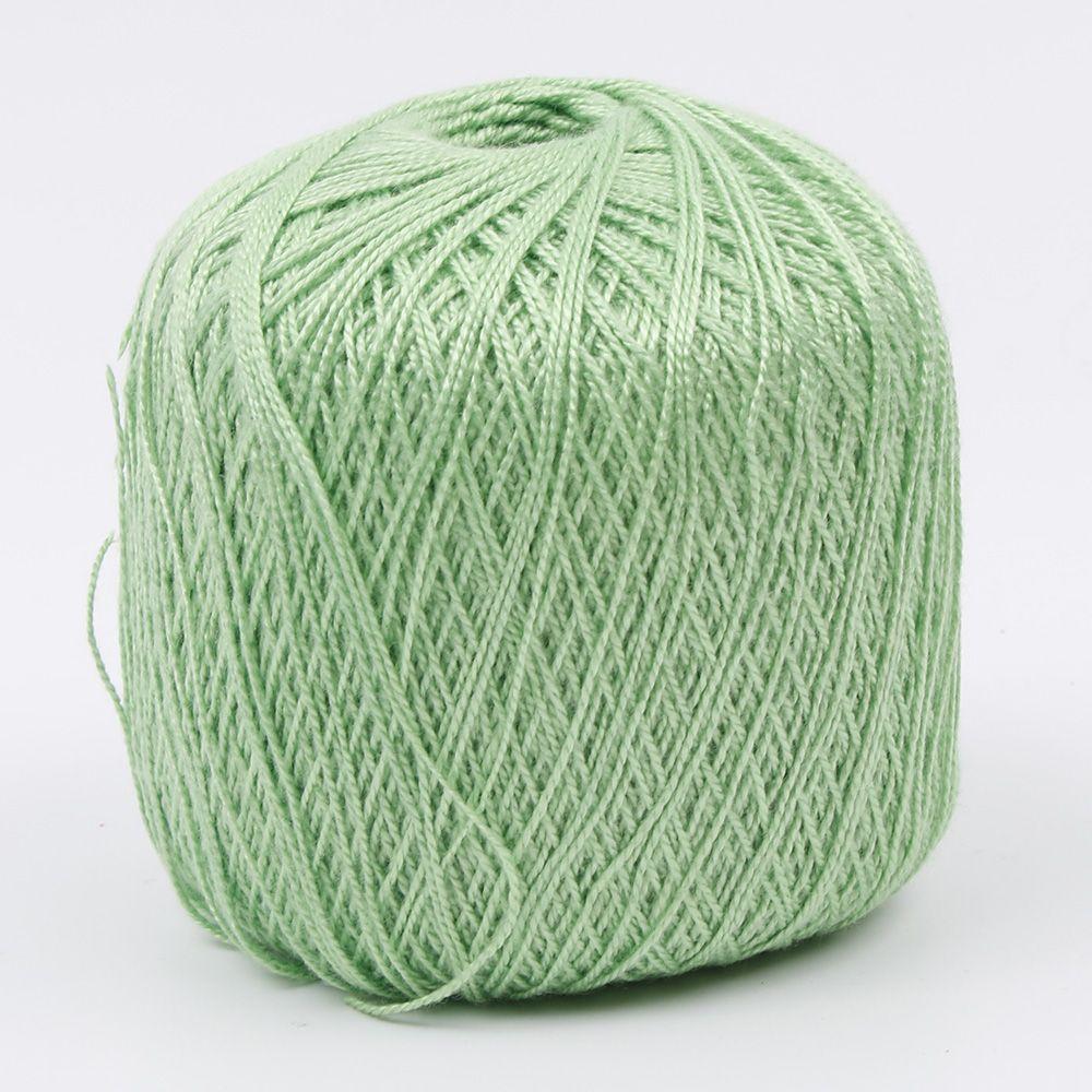 400 метров хлопчатобумажная нить для вязания крючком инструмент для рукоделия ручной работы - Цвет: green