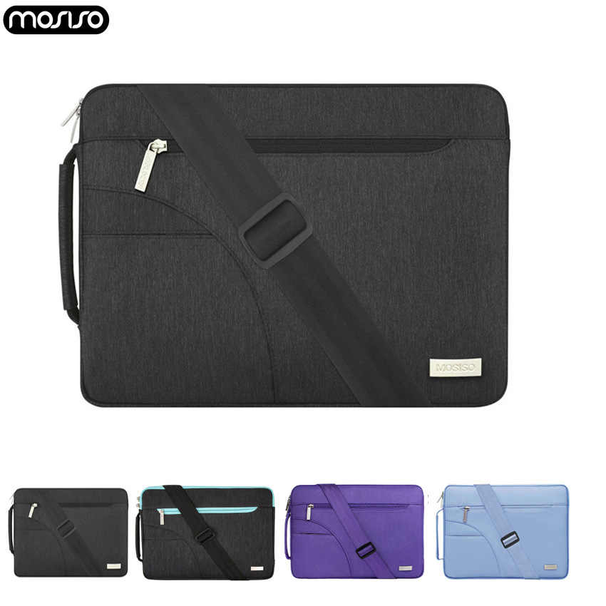 Mosiso Lengan Notebook Laptop Shoulderbag Tas untuk MacBook Pro Air 11 12 13.3 14 15 Inch Asus/Acer/ HP/Dell Microsoft Surface