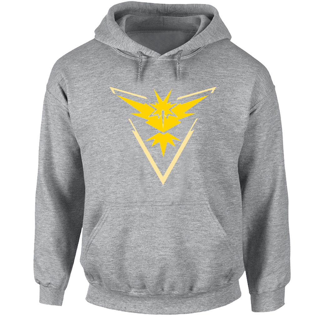 Pokemon Go Game Fans Hoodie Men Women Boy Girl Zapdos Yellow Team Print Sweatshirts Fashion Cotton Autumn Spring Winter Jackets