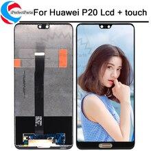 Digitalizador de touchscreen para huawei p20, display de reposição para huawei EML L09 EML L22 EML L29 EML AL00, lcd