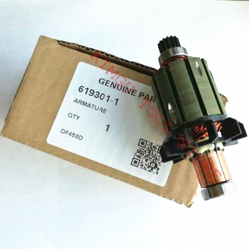 Rotor  Motor 619301-1 DC18V For  MAKITA 619496-0 DDF458Z DF458D DDF458RFE DHP458 BHP458 DDF458 BDF458 BDF458RFE BDF458Z  Drill