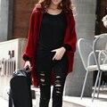 Женская batwing кардиганы шерстяные свитера knited свитер общий размер женщин outwears весна куртка одежда