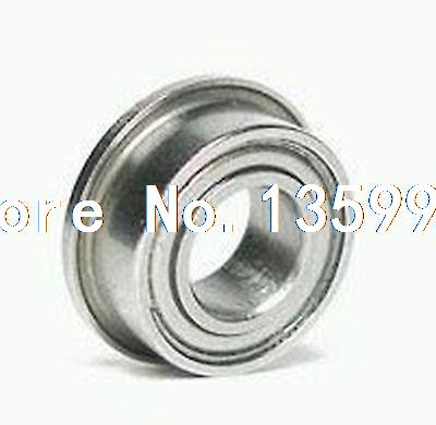 50pcs 4 x 12 x 4mm F604zz Shielded Flanged Model Ball Flange Bearing 4*12*4