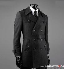 Gürtel winter Grau manteau homme wollmantel männer mantel veste homme mantel männer trenchcoat mode marke plus größe M-7XL 8XL 9XL