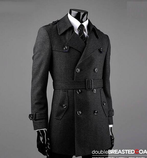 grossiste 9fb19 d673b € 71.06 22% de réduction|Ceinture hiver gris manteau homme laine manteau  hommes manteau veste homme pardessus hommes trench manteau mode marque  grande ...
