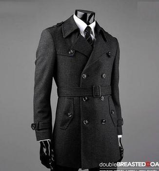 Belt winter Grey manteau homme wool coat men coat veste homme overcoat men trench coat fashion brand plus size M – 7XL 8XL 9XL