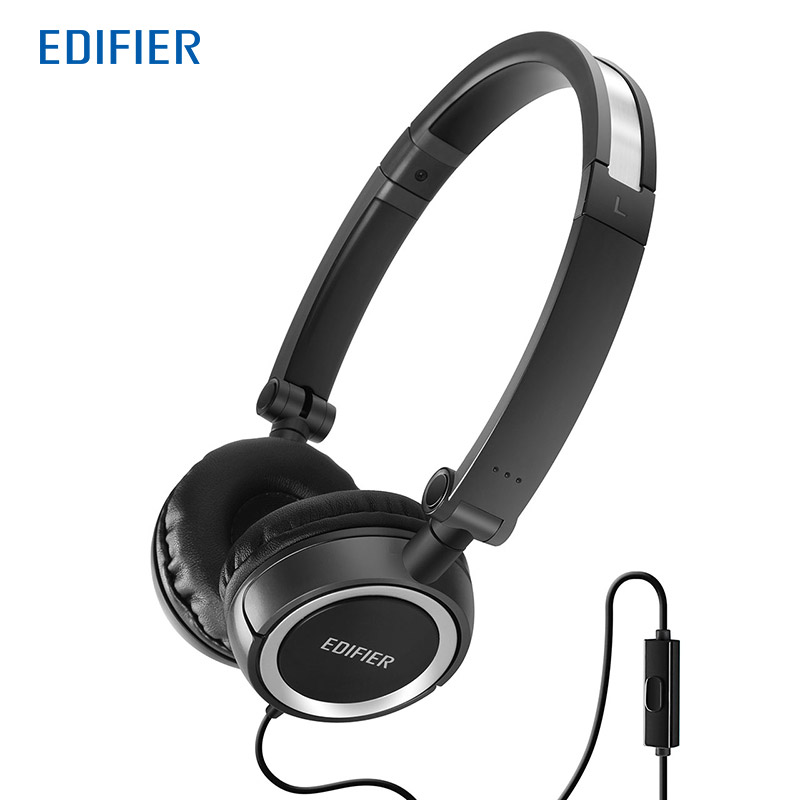 Edifier P650 HIFI Headphone Folding Design Noise Cancelling Headset 3.5mm with Microphone Clear Call for Mobile Phone PC Tablet noise cancelling headphones stereo earphone 3 5mm headset wiht microphone for mobile tablet pc phone