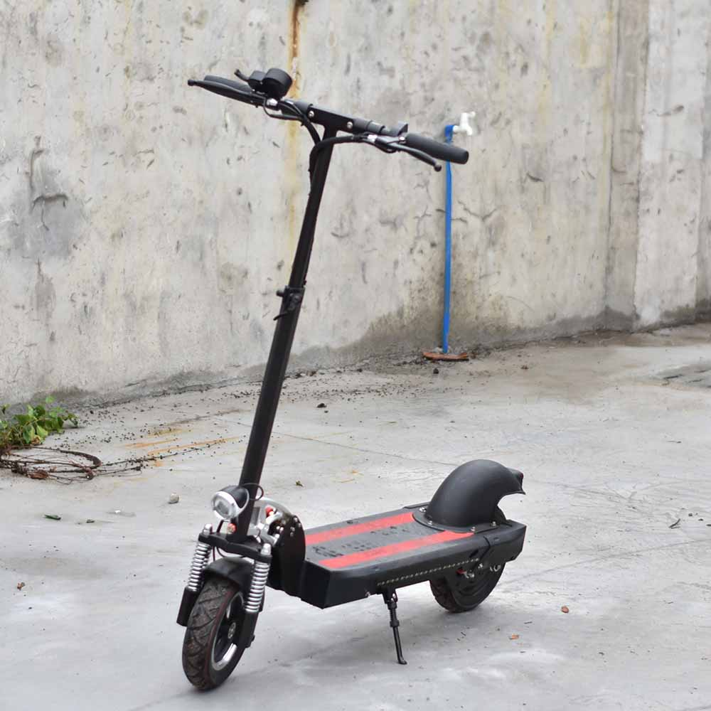Stand Up Electric Scooter >> Us 521 55 5 Off Stand Up Electric Skateboard 2 Wheel Electric Scooter 10inch Tubless Tire With Turning Light In Self Balance Scooters From Sports