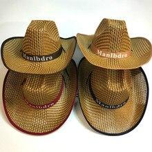 Protección solar del verano sombrero de vaquero ocio novedad sombrero de paja  hombres sombra sombrilla tres 11dd17c408c