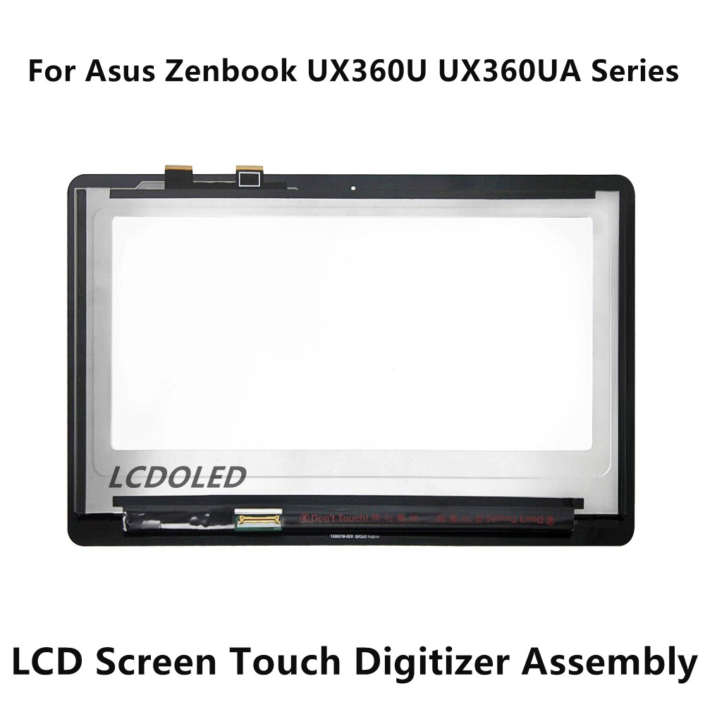 13.3'' For Asus Zenbook UX360U UX360UA Series Full LCD Screen Display + Touch Digitizer Glass Assembly B133HAN02.7 LP133QD1.SPB2 new 13 3 inch fhd qhd for asus ux360u ux360ua led lcd touch screen digitizer assembly with free shipping