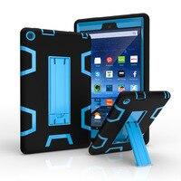 WES Durumda Yeni 2016 Amazon Kindle Yangın HD 8 Için HD8 Tablet Hit Renk 3 1 Hibrid Ağır Case Arka Kapak Koruyucu kabuk