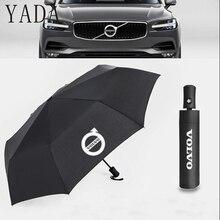 YADA Черный Автомобильный бренд VOLVO автоматически складывающийся зонтик большой дождь УФ автомобильный зонт для женщин и мужчин Новые ветрозащитные зонты для мужчин YS661