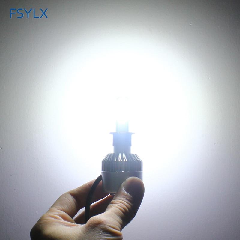 FSYLX 72W 16000lm H1 LED žarometi H1 avto LED dnevne vožnje luči - Avtomobilske luči - Fotografija 5