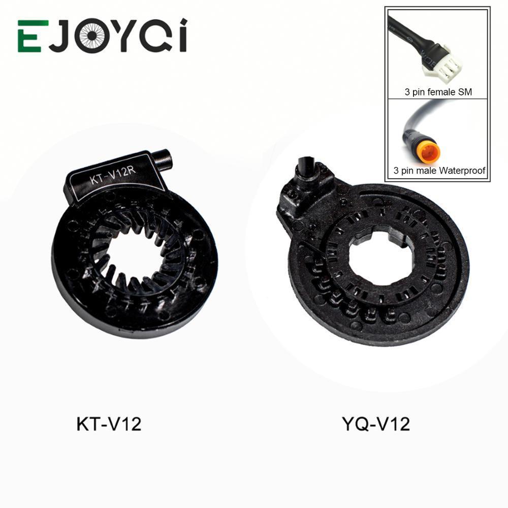 EJOYQI KT Kunteng 12 Magnets Ebike PAS Pedal Assist Sensor Dual Hall Sensors 12 Signals SM Waterproof Ebike Conversion Parts