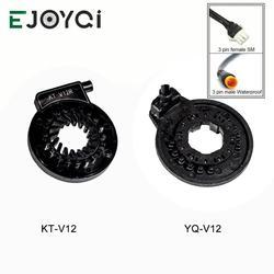 EJOYQI KT V12 Ebike PAS CD V12L 12 magnesy lewy pedał czujnik wspomagający podwójne czujniki halla 12 sygnałów elektryczny czujnik rowerowy PAS