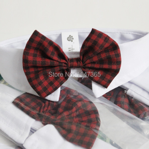 Hot sales pet supplies red Colors cats dog tie wedding  accessories dogs bowtie Collar holiday decoration coolest bow gift