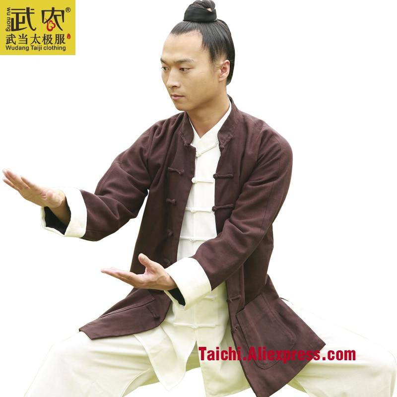 Wudang Tai Chi Clothing Linen Coat Clothes Male Martial Arts Taijiquan Clothing