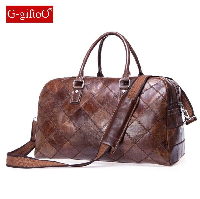 Genuine Leather Men's Messenger Bag Gentleman Business Bag Real Leather Men Briefcase Vintage Handbag