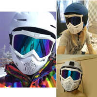 Reedocks Occhiali Da Sci Maschera Modulare Staccabile Bocca Filtro Uomo Donna Sci Motoslitta Snowboard Occhiali Da Neve Invernale di Sci Occhiali