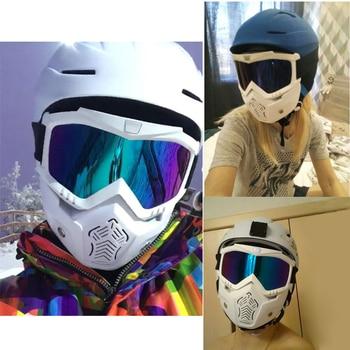 Reedocks Skiing Goggles Modular Mask Detachable Mouth Filter Men Women Ski Snowmobile Snowboard Goggles Snow Winter Ski Glasses
