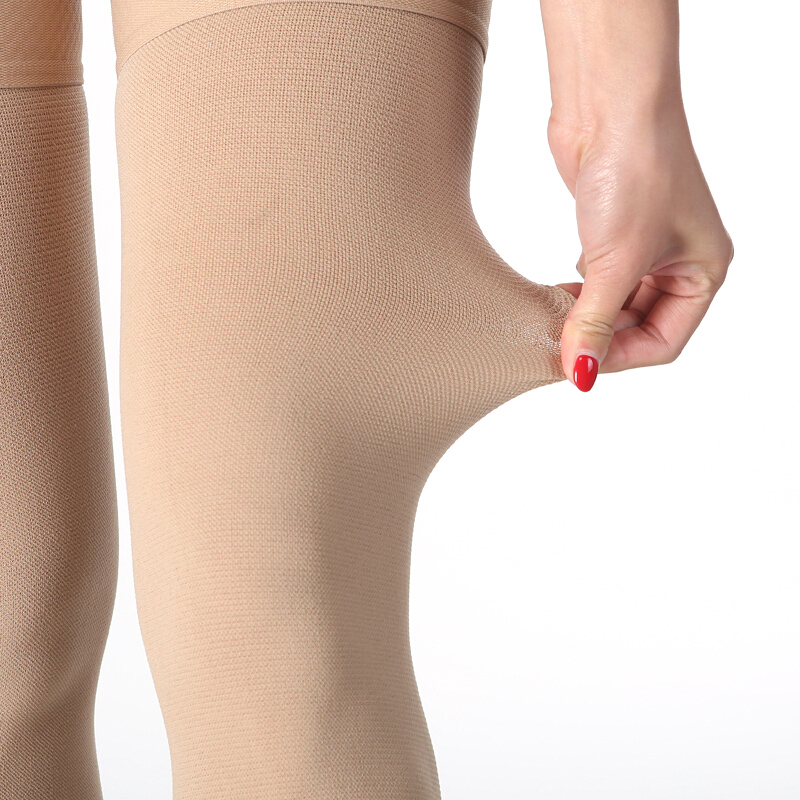 Image 3 - 20 30 mmHg Medical Therapy Compression Stockings for Women's Men's Nurses Graduated Support Varicose Veins Pregnancy Open toe-in Stockings from Underwear & Sleepwears
