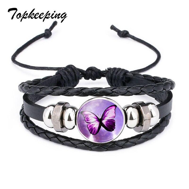 935c91919 Topkeeping Značka Ženy Módní šperky Butterfly Natural Stone Ladies ...