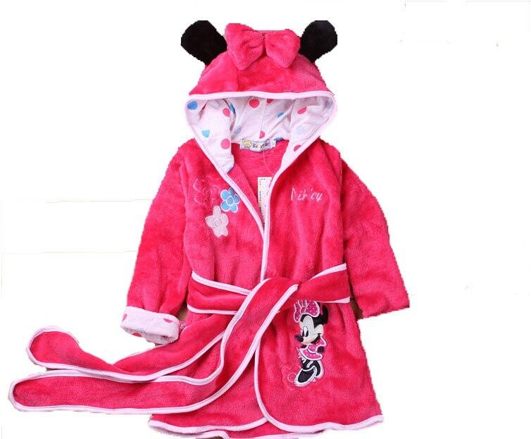 10 88 5 De Réduction Robes De Chambre Pour Enfants Peignoir Garçons Filles Bande Dessinée Polaire à Capuche Une Pièce Robe Pijamas Robe De Chambre
