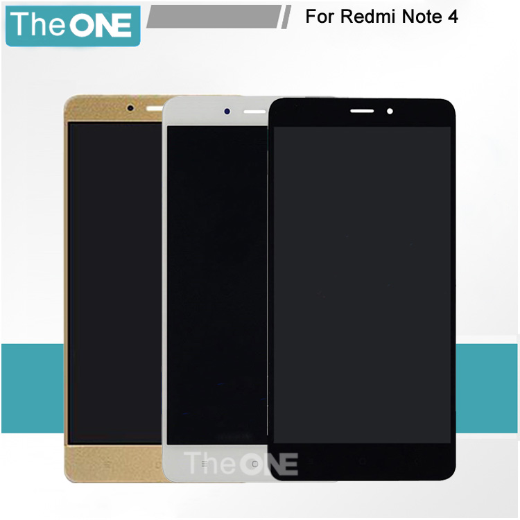Free DHL For Xiaomi Redmi Note 4 LCD+Touch Screen High Quality Display Digitizer Glass Panel For Hongmi Redmi Note 4 Pro Prime