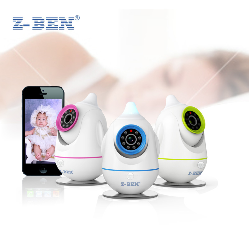 Z-BEN 720P HD 1.0MegaPixel Wireless IP Camera baby monitor Night Vision 2 Way Audio PnP CCTV Camera Indoor Security Camera Wifi